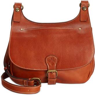 Patricia Nash Heritage London Smooth Leather Crossbody Saddle Bag