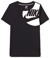Nike Black and White Branded Tee