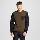 Men's Mixed Media Crew Pullover Green - Mossimo