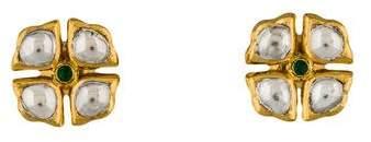 Amrapali Emerald and Diamond Stud Earrings