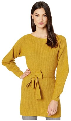 BCBGMAXAZRIA Boatneck Long Sleeve Pullover Sweater (Golden Olive) Women's Clothing