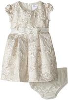 Us Angels Brocade Short Sleeve Princess Bodice Empire Dress (Infant)