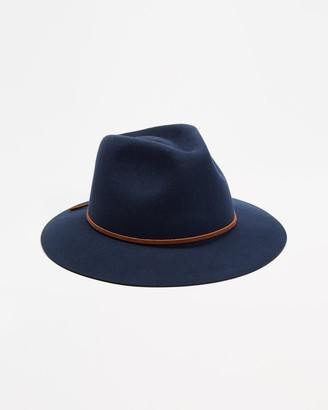 Brixton Blue Hats - Wesley Fedora - Size S at The Iconic