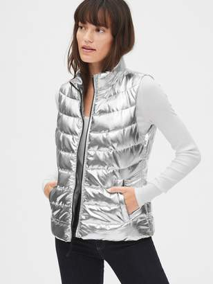 Gap ColdControl Lightweight Metallic Puffer Vest