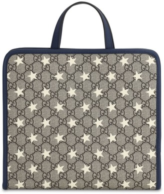 Gucci Stars Print Faux Leather Tote Bag