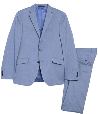 Kenneth Cole Reaction Chambray Stretch Performance Modern Fit 2-Piece Suit