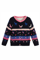 Billieblush Navy Unicorn Knitted Cardigan