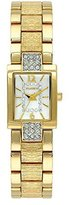 Elgin Women's Watch with Bark Textured Strap, Crystal MOP Dial