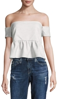 Nicole Miller Off Shoulder Peplum Top