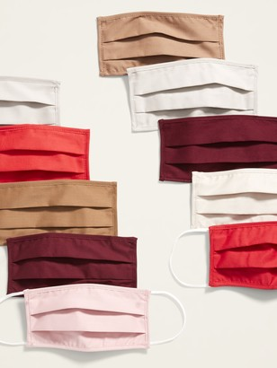 Old Navy Variety 10-Pack of Triple-Layer Cloth Pleated Face Masks for Adults