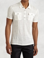 John Varvatos French Linen Polo