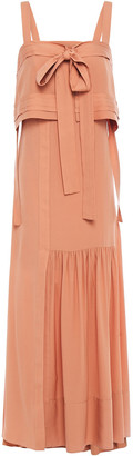 3.1 Phillip Lim Layered Bow-detailed Cutout Silk-crepe Maxi Dress