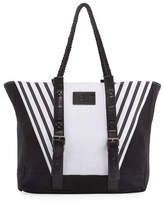 Jets Contrast Paneled Beach Bag, Multi