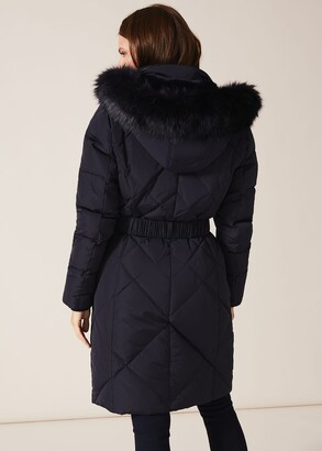 Phase Eight Lacey Long Fur Lined Puffer