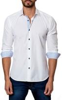 Jared Lang Anchor Embossed Long Sleeve Trim Fit Shirt