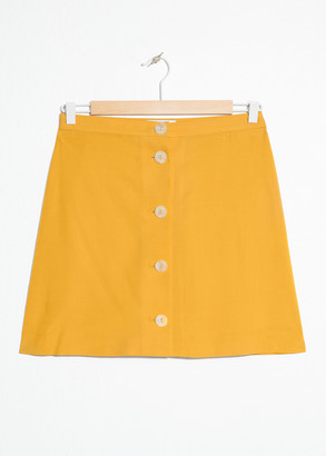 And other stories A-Line Button Mini Skirt