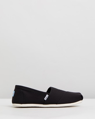 Toms Women's Black Flats - Canvas Classics - Women's - Size One Size, 9 at The Iconic