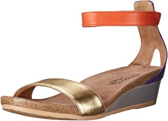 Naot Footwear Women's Pixie Wedge Sandal Gold Combo 35 EU/4 M US