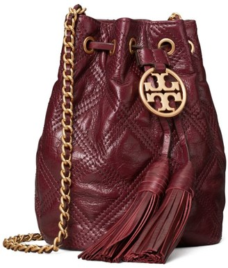 Tory Burch Fleming Soft Glazed Mini Bucket Bag