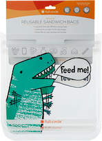 Full Circle Dinosaur Reusable Sandwich Bags - Set of Two