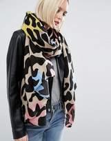 Asos Oversized Multi Leopard Print Scarf