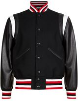 Givenchy Embroidered Logo Contrast Sleeve Bomber Jacket