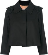 Max Mara embellished shoulders jacket