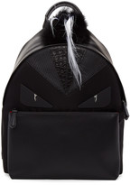 Fendi Black Snakeskin bag Bugs Backpack