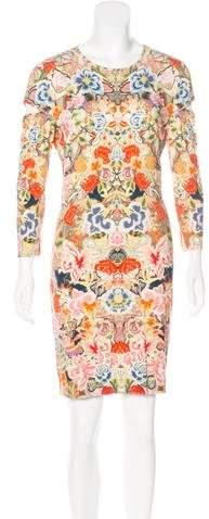 Alexander McQueen Mixed Print Mini Dress