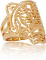 Kenzo Tiger gold-plated ring