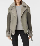 AllSaints Hawley Oversized Shearling Jacket