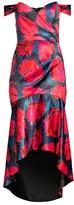 Parker Black Cesarina Floral Midi Dress