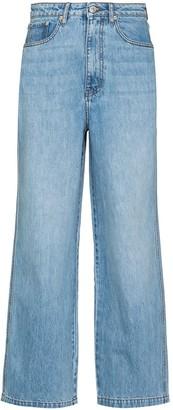Nanushka Jane straight-leg cropped jeans