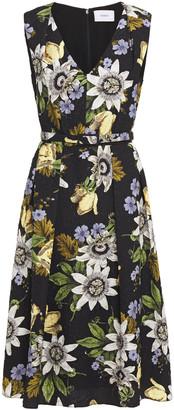 Erdem Pleated Cloque-jacquard Midi Dress