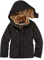 Asstd National Brand Fur-Lined Ballistic, Heavy-weight Jacket - Girls-Big Kid