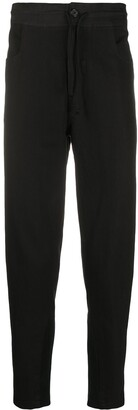 Ann Demeulemeester Ribbed Panel Drawstring Trousers
