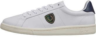 Fred Perry Mens B721 Leather Shields Badge Trainers White
