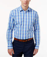 Club Room Estate Wrinkle-Resistant French Blue Multi-Plaid Dress Shirt, Created for Macy's