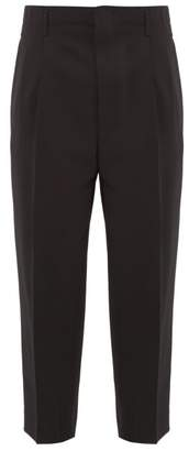 Ami Tapered Wool Trousers - Mens - Black