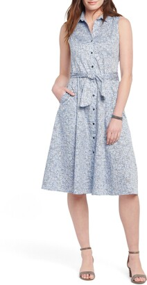Nic+Zoe Naples Belted Shirtdress