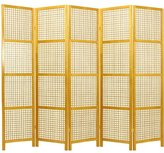 Oriental Furniture Asian Decor 6-Feet Miyagi Japanese Screen Room Divider with See Thru Lattice Design