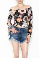 Solemio Floral Off Shoulder Bodysuit