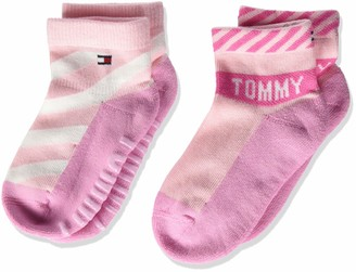 Tommy Hilfiger Baby Girls' Th Sock 2p Bold Calf
