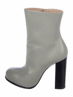Celine Leather Sock Boots Grey