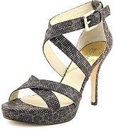 MICHAEL Michael Kors Evie Platform Women US 6.5 Black Platform Heel