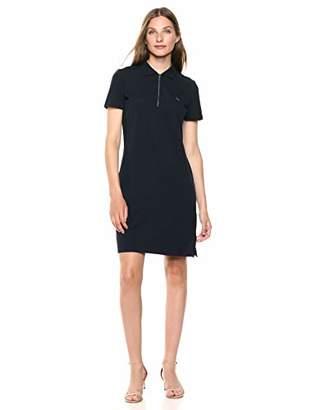 Calvin Klein Women's Short Sleeve Zip UP Collared Dress
