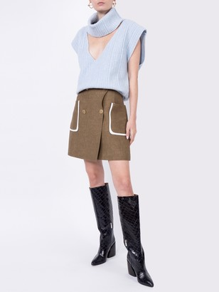 Fendi Buttoned Double-breasted Skirt