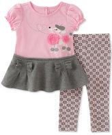 Kids Headquarters 2-Pc. Peplum Poodle Tunic and Leggings Set, Baby Girls (0-24 months)