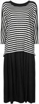Y's crewneck striped dress