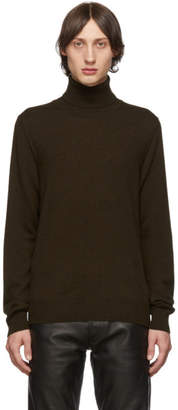 Maison Margiela Brown Elbow Patch Turtleneck